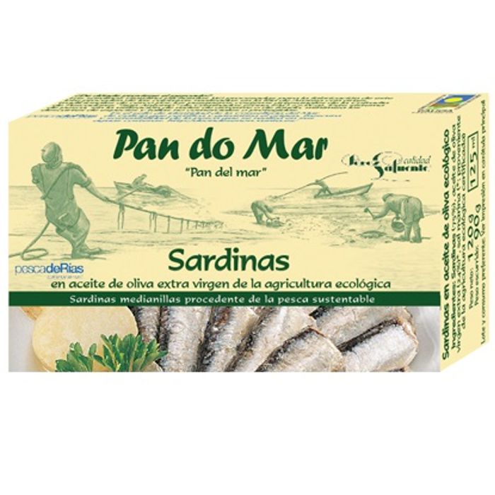 Sardines en oli d'oliva V.E. 120g PAN DO MAR